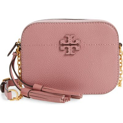 Tory Burch Mcgraw Leather Camera Bag - Pink