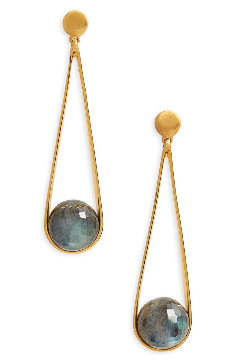 DEAN DAVIDSON Ipanema Earrings, Main, color, LABRADORITE/ GOLD