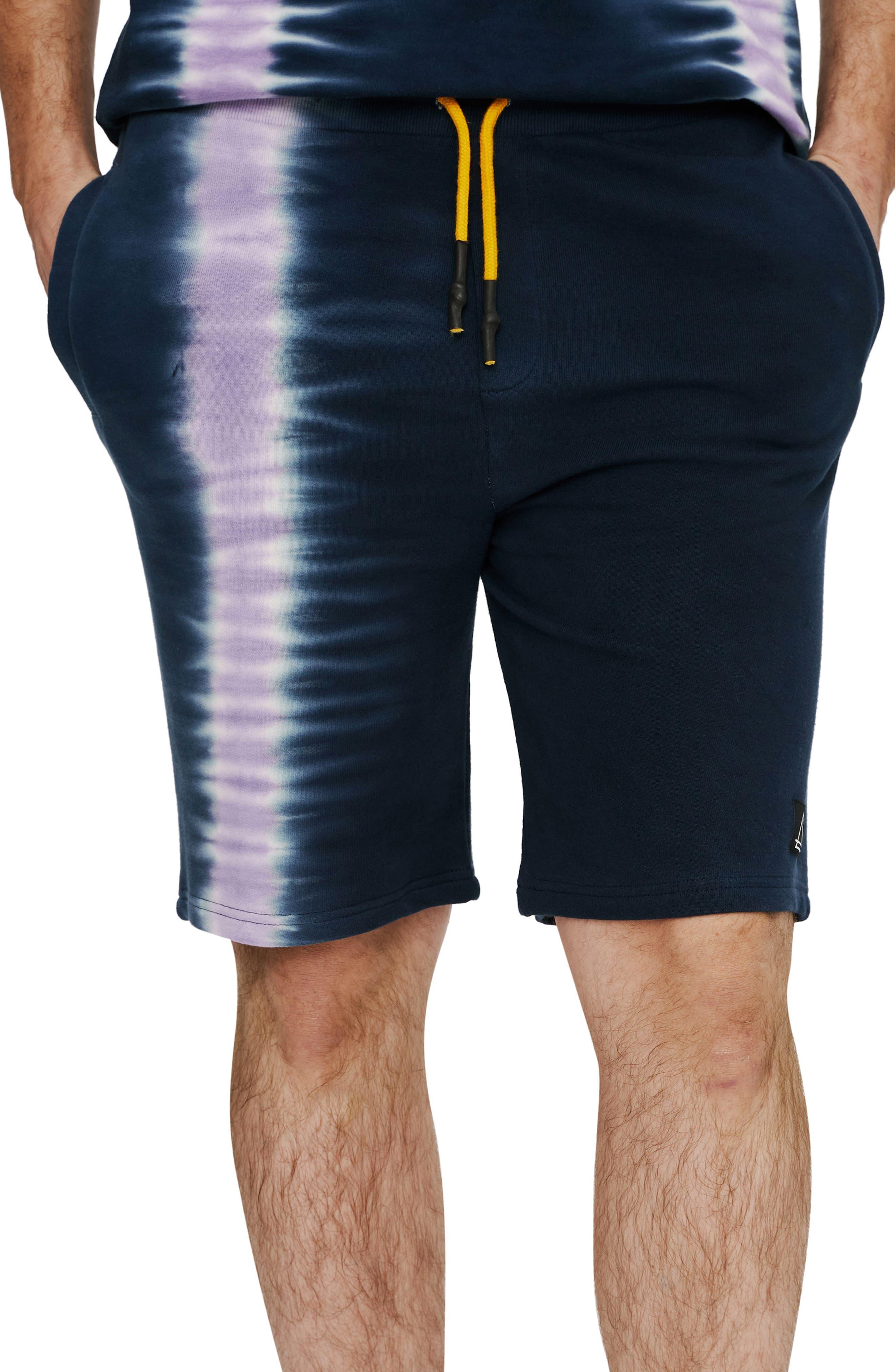 Tie Dye Cotton Sweat Shorts