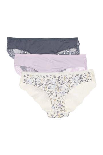 Jessica Simpson Lace Back Bikini Panties Pack Of 3 Hautelook