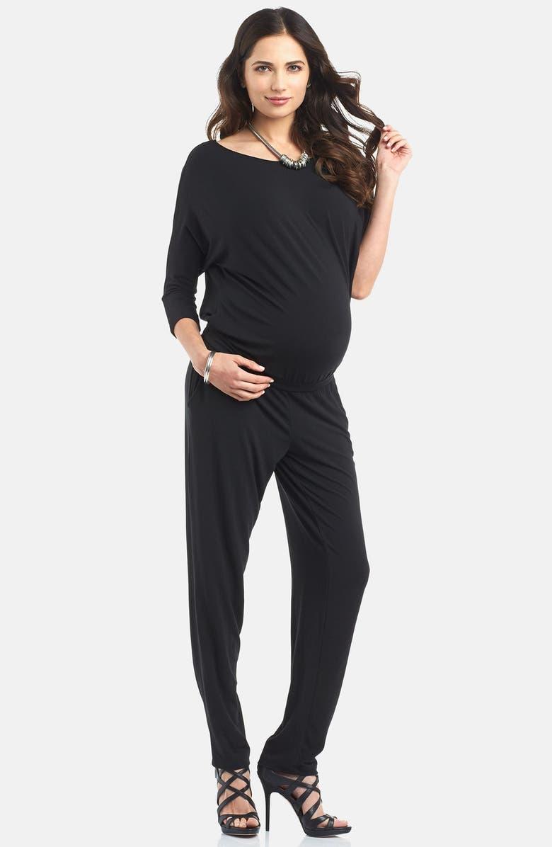 TART MATERNITY 'Ines' Maternity Jumpsuit, Main, color, 001