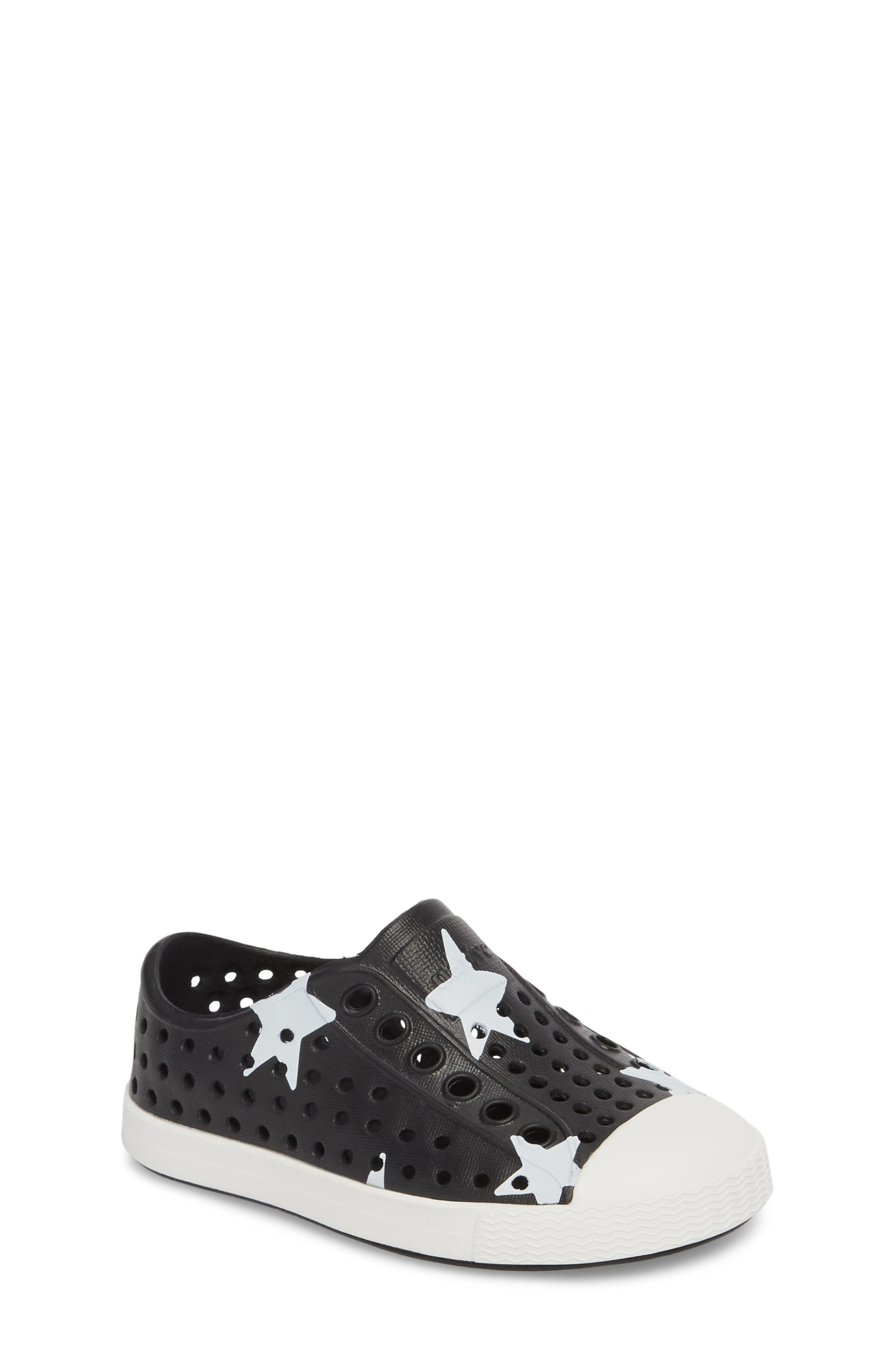 ,                             Jefferson Quartz Slip-On Sneaker,                             Main thumbnail 1, color,                             JIFFY BLACK/ WHITE/ STAR