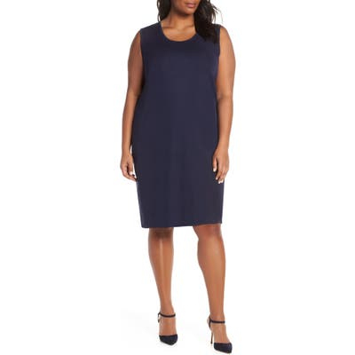 Plus Size Ming Wang Knit Tank Dress, Blue