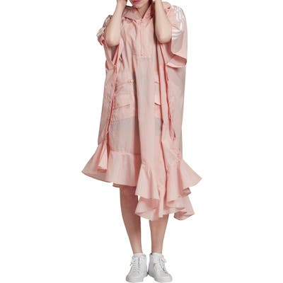 Adidas Originals Hooded Asymmetrical Poncho, Pink