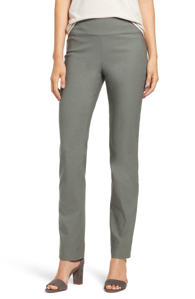NIC+ZOE Wonderstretch Slim Leg Pants, Main, color, MOSS