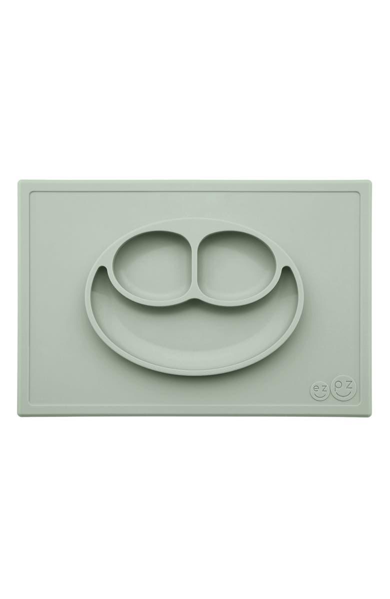 EZPZ 'Happy Mat' Silicone Feeding Mat, Main, color, SAGE