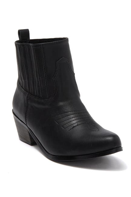 Image of Chase & Chloe Stacked Heel Western Bootie