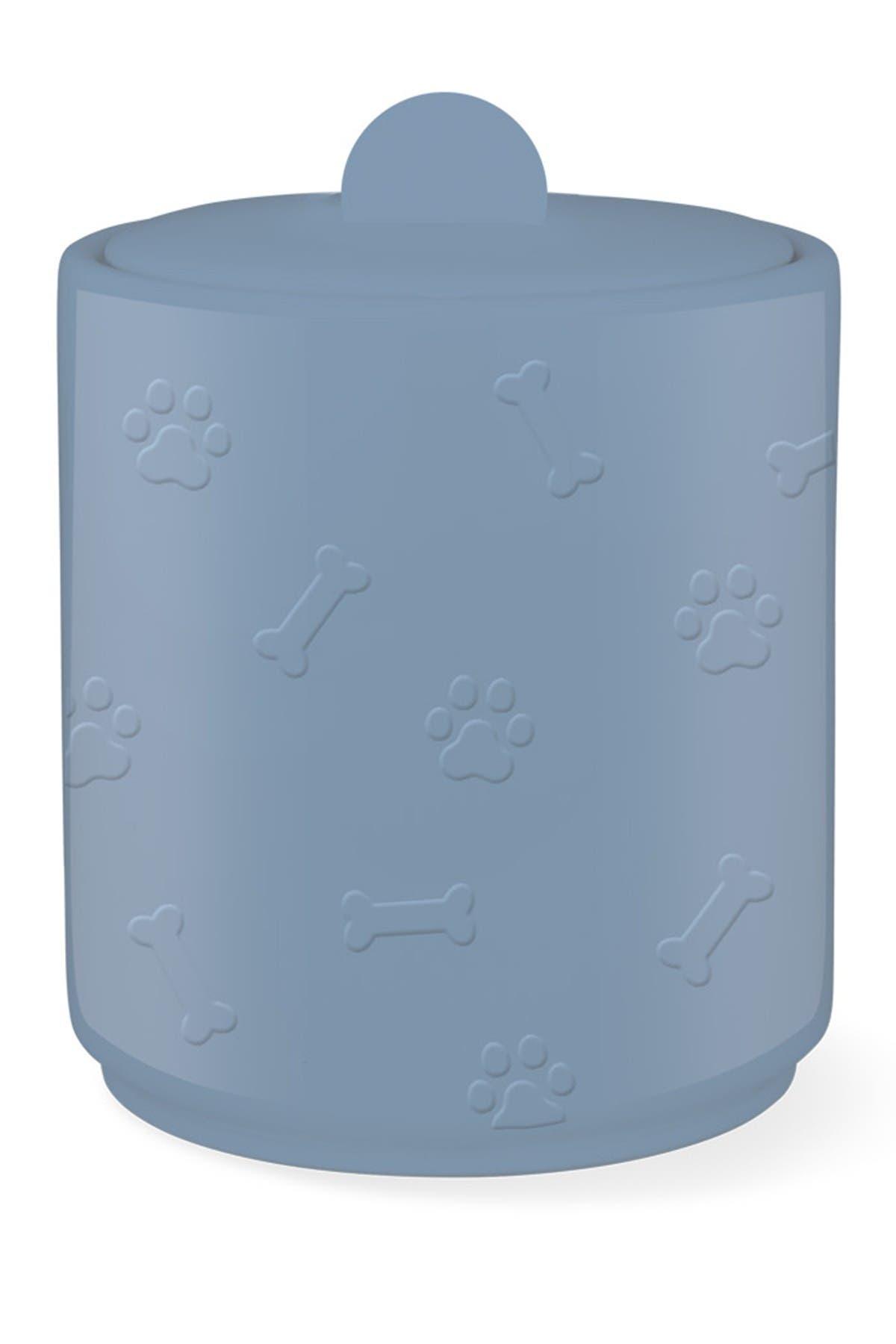Image of Fringe Studio Blue Paw Bone Sculpted Treat Jar