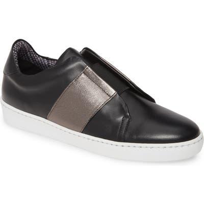Aquatalia Alexis Weatherproof Slip-On Sneaker- Black