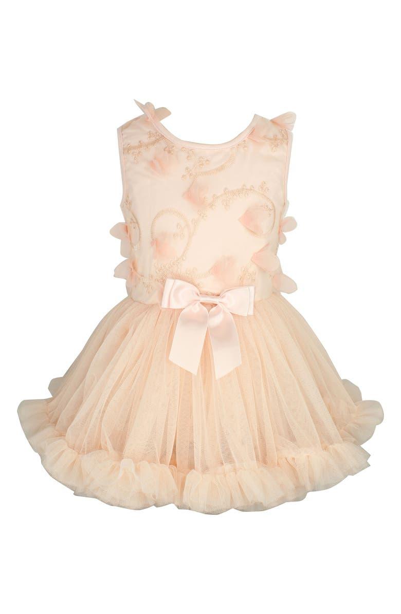 POPATU Butterfly Tutu Dress, Main, color, PEACH