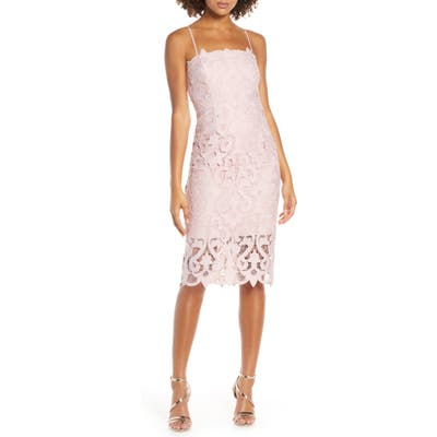 Bardot Lina Lace Cocktail Dress, Pink