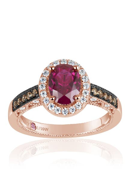 Image of Suzy Levian Pink Rhodium Plated Sterling Silver Get Lost In Lively CZ Ring