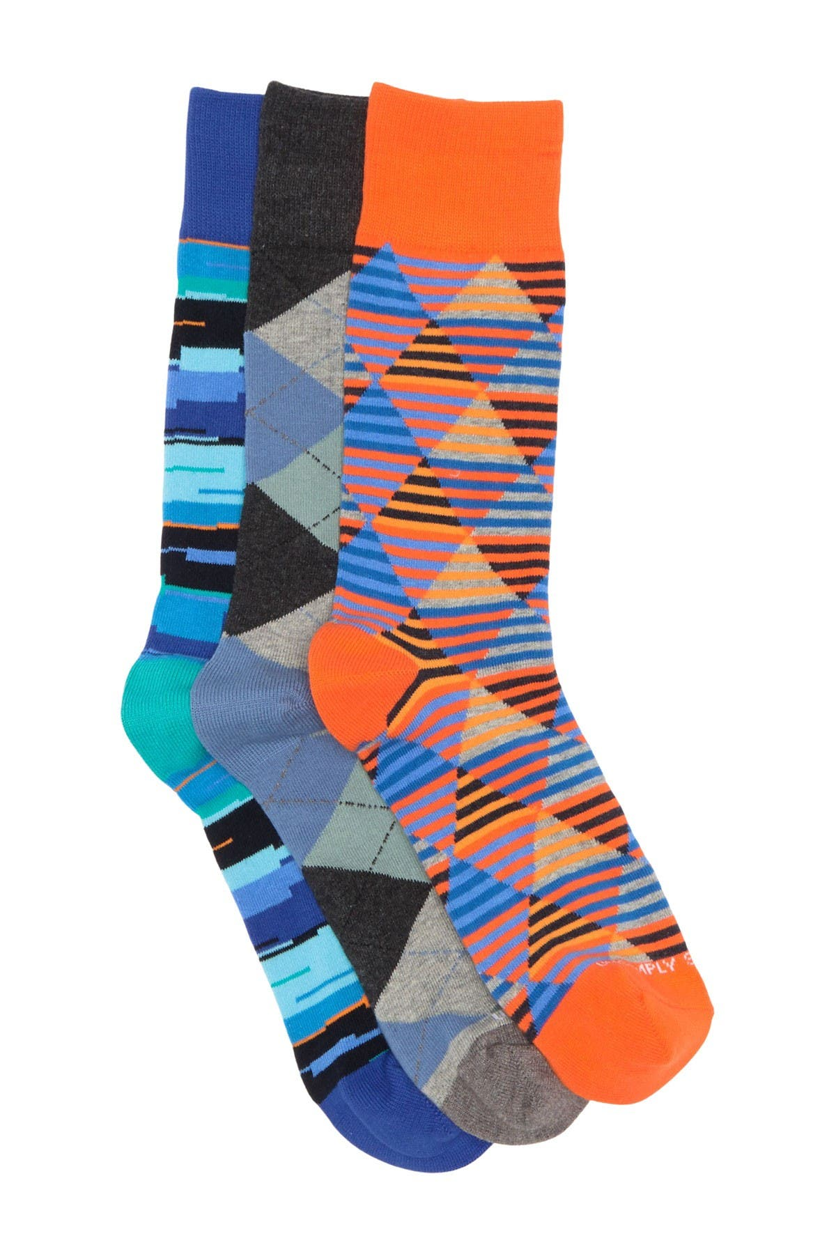 Image of Unsimply Stitched Assorted Print Crew Sock - Pack of 3