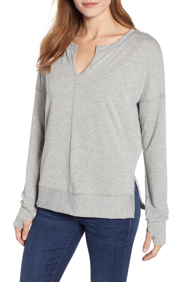 CASLON<SUP>®</SUP> Off-Duty Cozy Sweatshirt, Main, color, 030