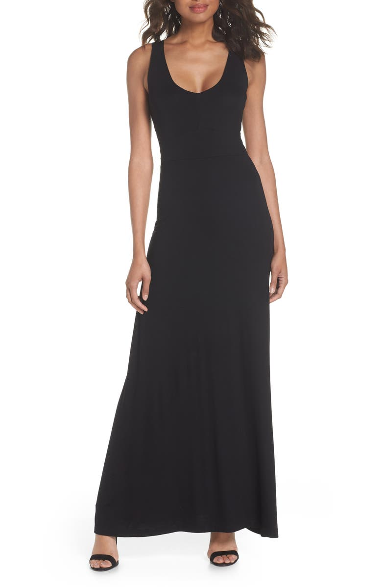 FRAICHE BY J Open Back Maxi Dress, Main, color, 002