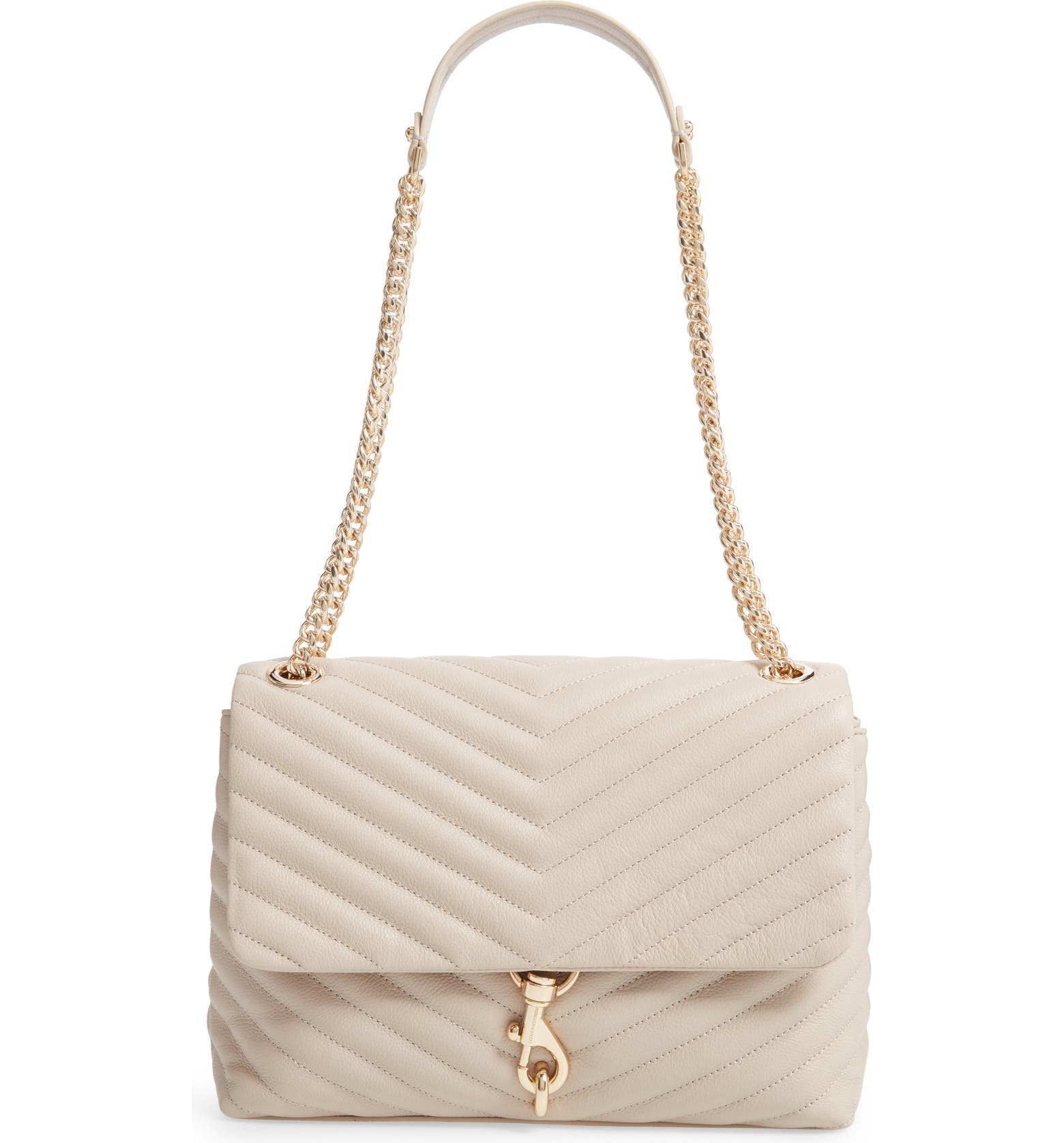 Edie Flap Quilted Leather Shoulder Bag REBECCA MINKOFF