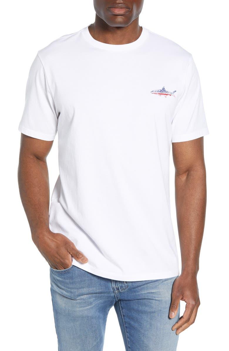 VINEYARD VINES American Bonefish Graphic T-Shirt, Main, color, WHITE CAP