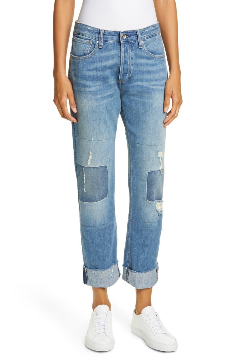 RAG & BONE Rosa Distressed Boyfriend Jeans, Main, color, ITO