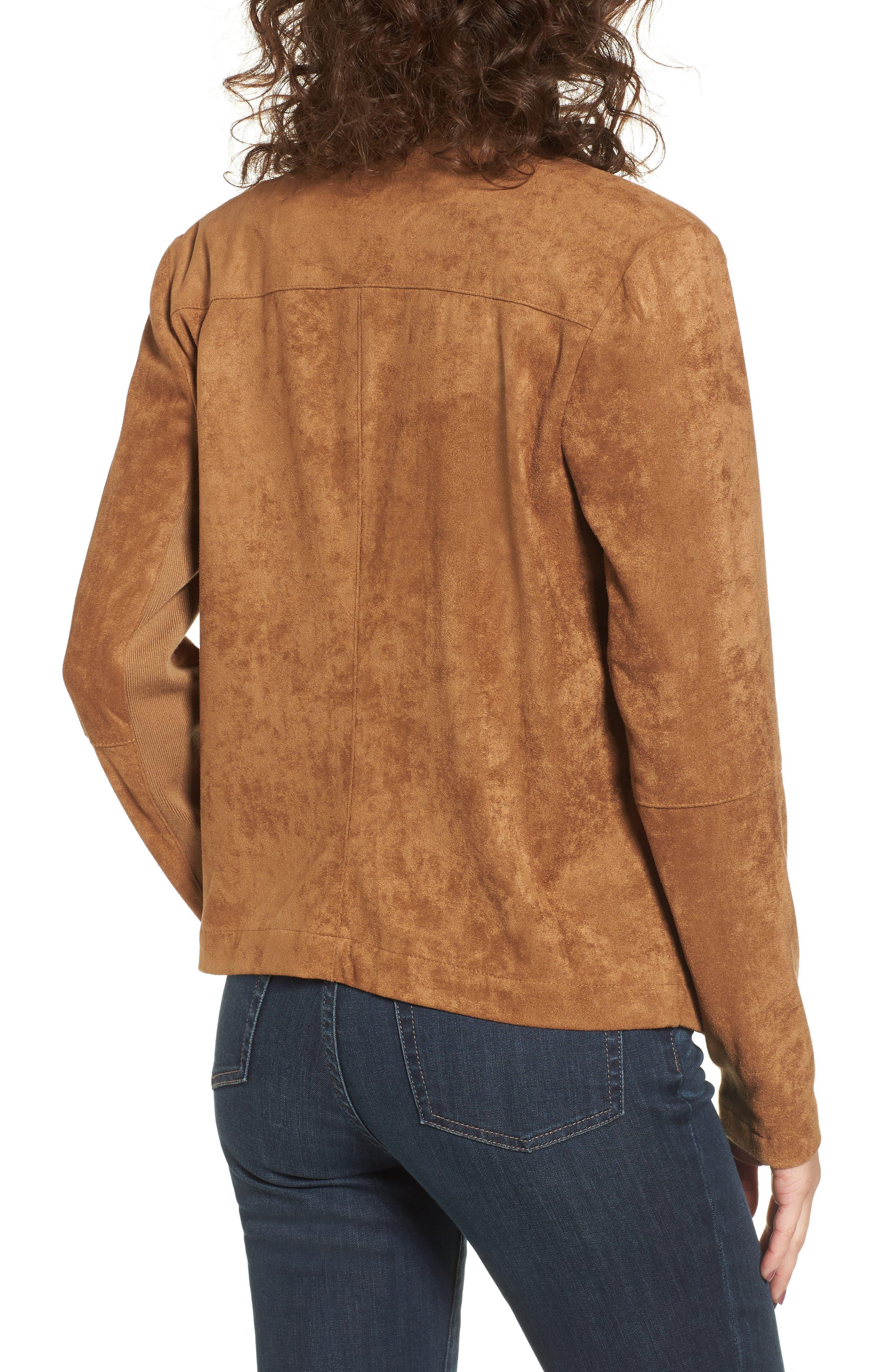 ,                             Nicholson Faux Suede Drape Front Jacket,                             Alternate thumbnail 29, color,                             252