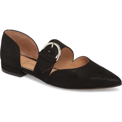 Linea Paolo Dean Pointy Toe Flat- Black