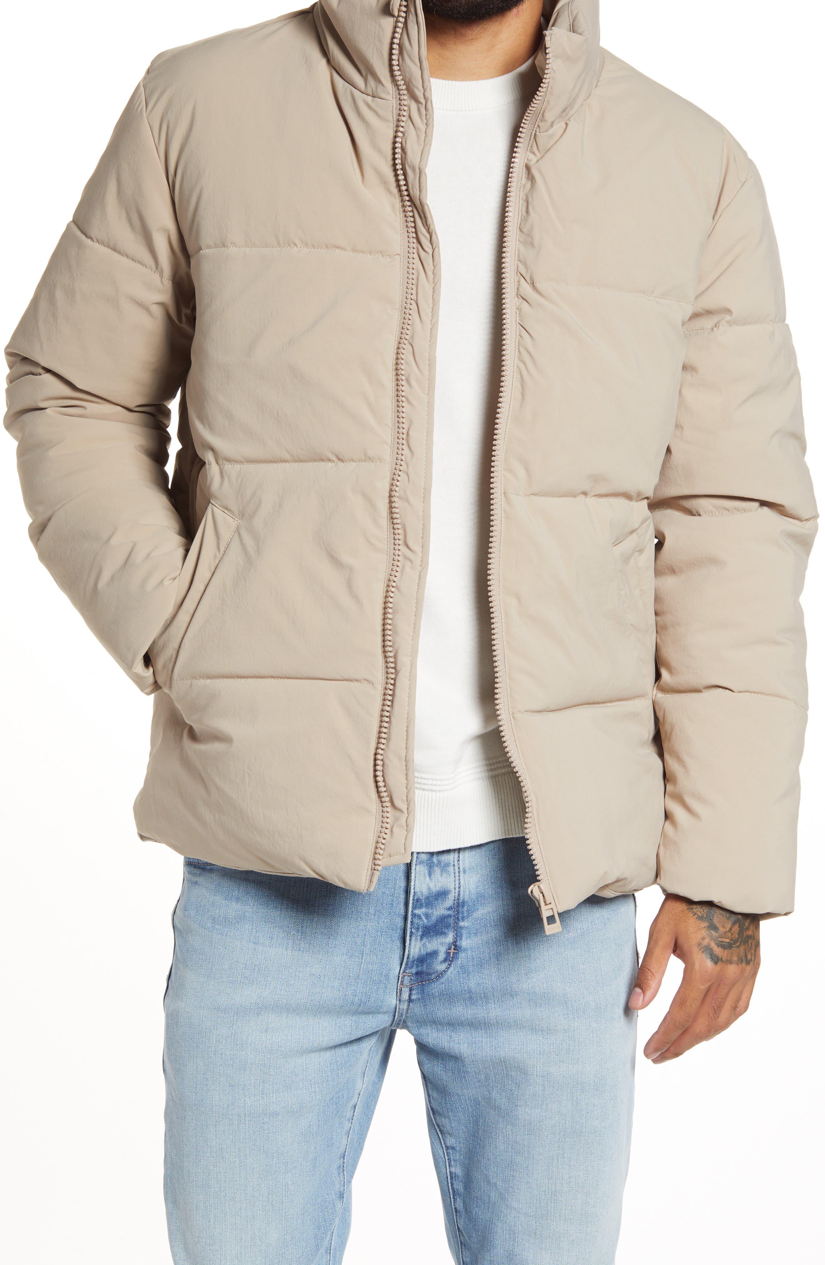 Men's Topman Lucky Puffer Jacket