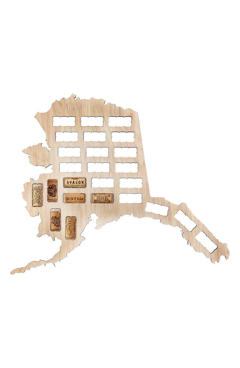 BEERCAPTRAP State Map Wine Cork Trap, Main, color, ALASKA
