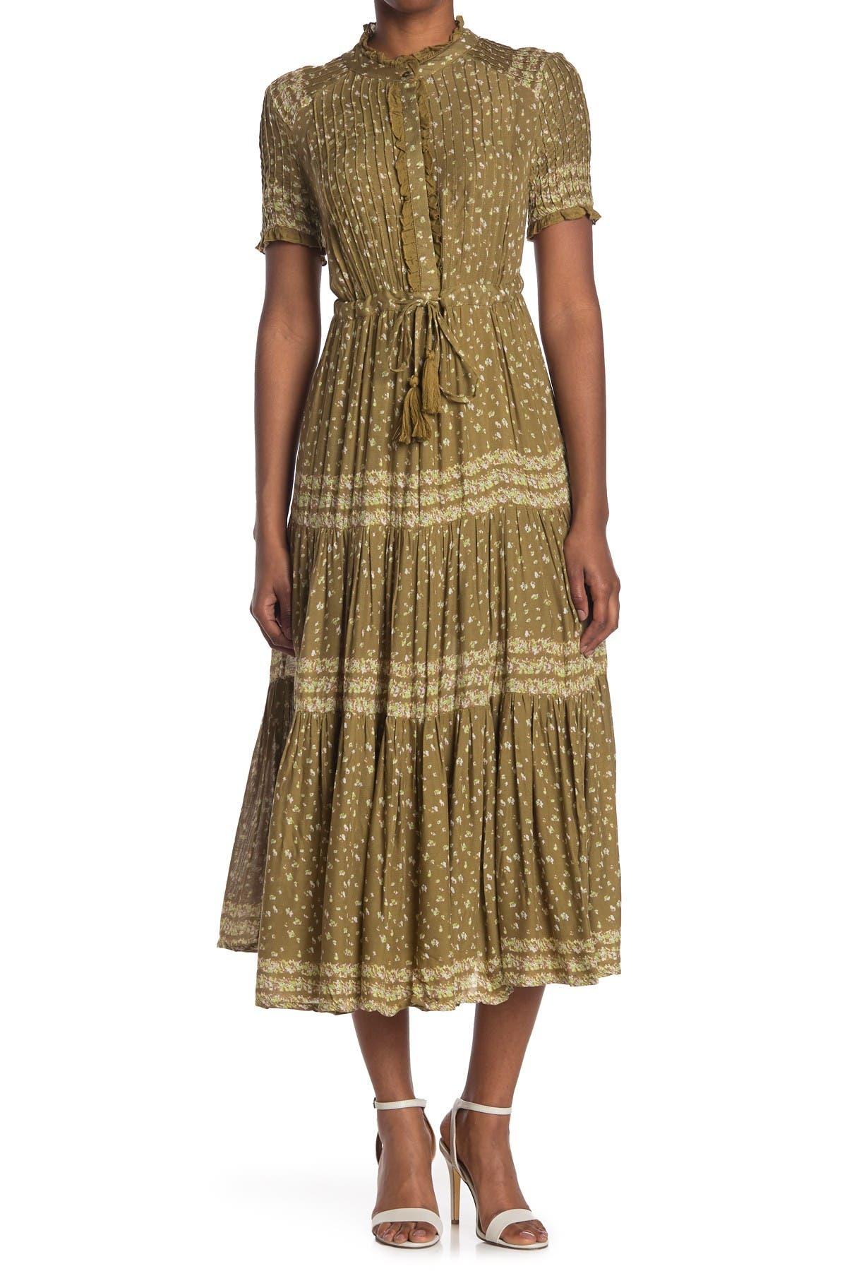 Image of Free People Rare Feeling Pleated Maxi Dress