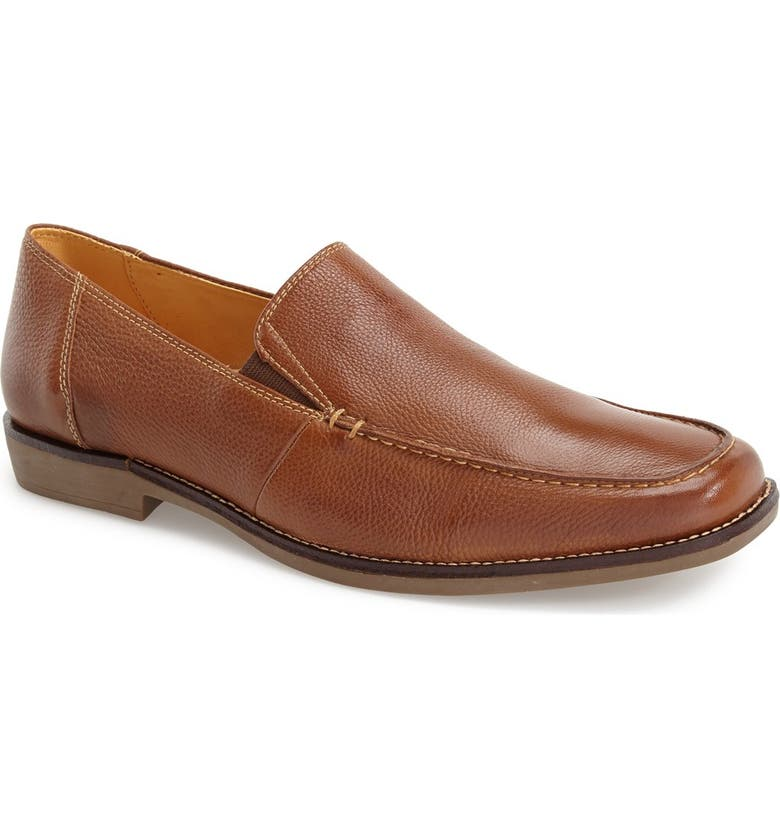 SANDRO MOSCOLONI 'Easy' Leather Venetian Loafer, Main, color, COGNAC