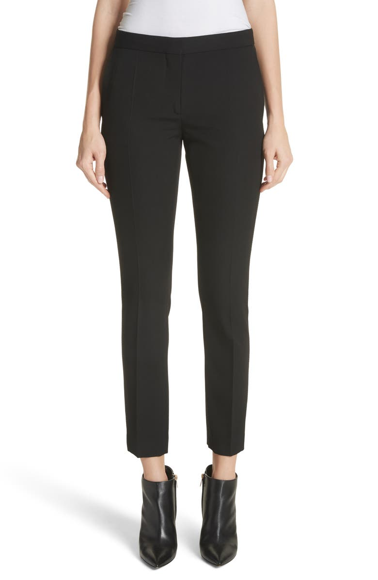 BURBERRY Hanover Wool Ankle Pants, Main, color, 001