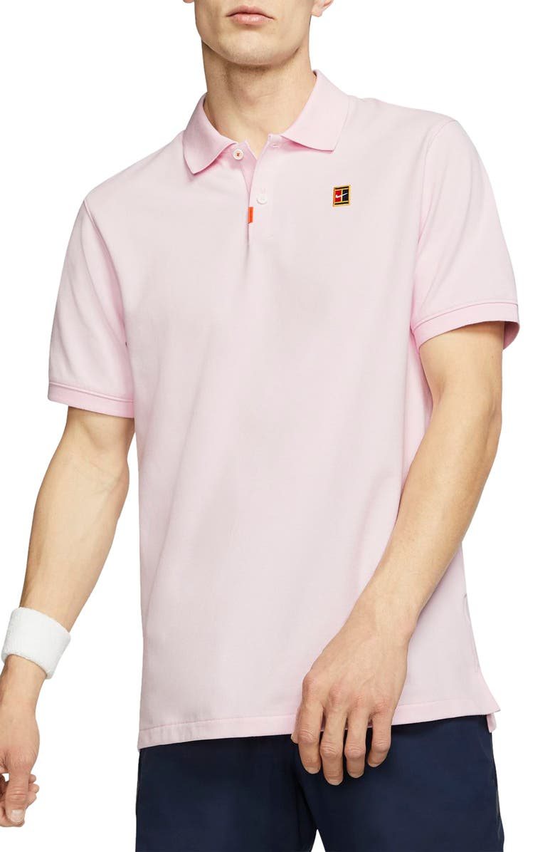NIKE Court Dri-FIT Heritage Piqué Tennis Polo, Main, color, PINK FOAM