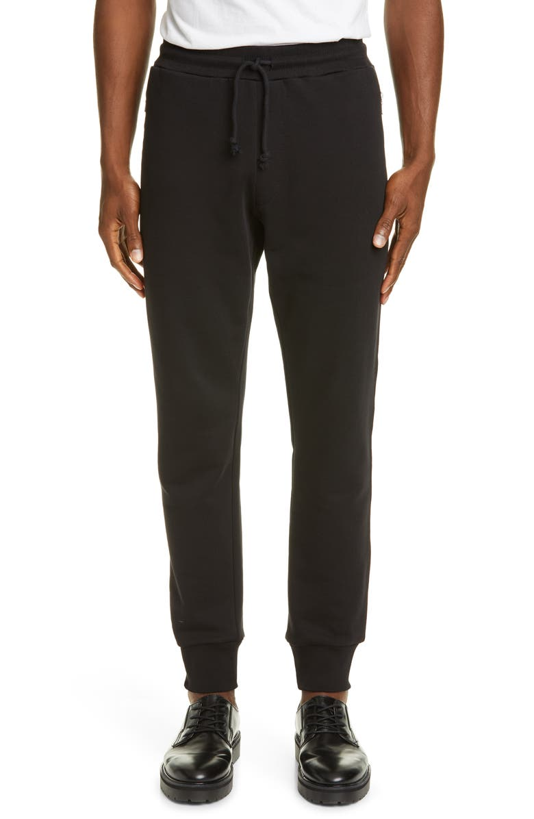 DRIES VAN NOTEN Slim Fit Sweatpants, Main, color, BLACK