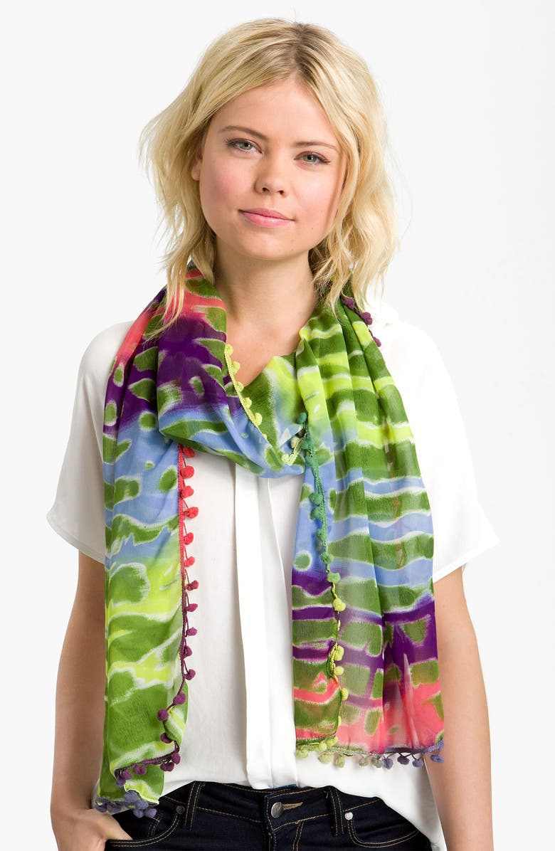 MADE OF ME Tie Dye Scarf, Main, color, 300
