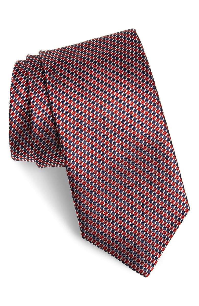 CANALI Geometric Silk Tie, Main, color, 600