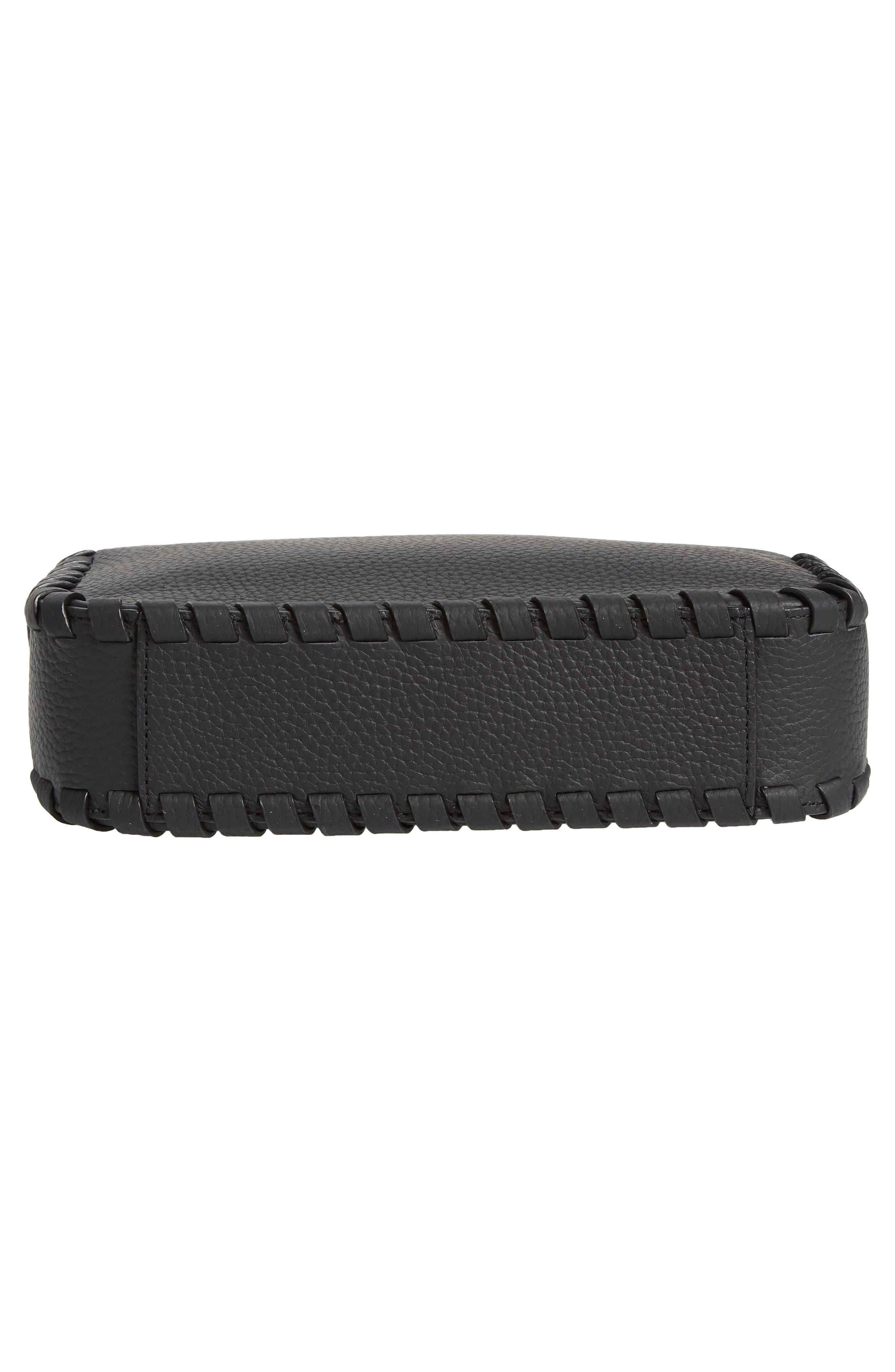,                             Kepi Mini Leather Crossbody Bag,                             Alternate thumbnail 7, color,                             BLACK
