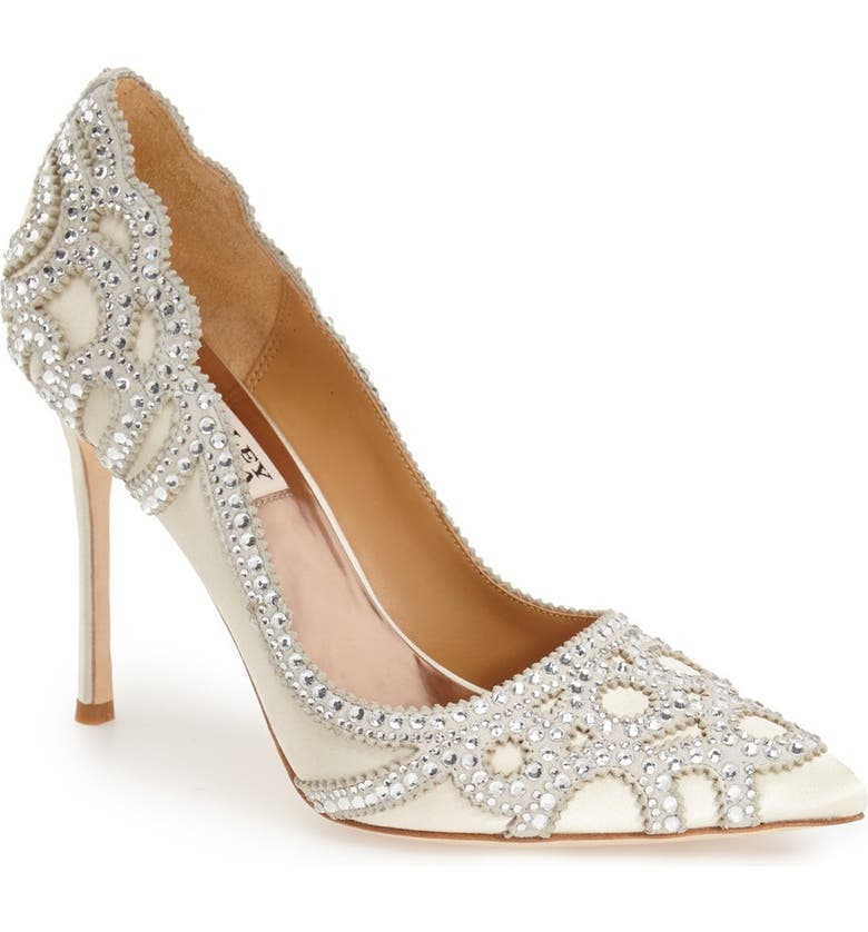 BADGLEY MISCHKA COLLECTION BadgleyMischka'Rouge' Pointy Toe Pump, Main, color, IVORY