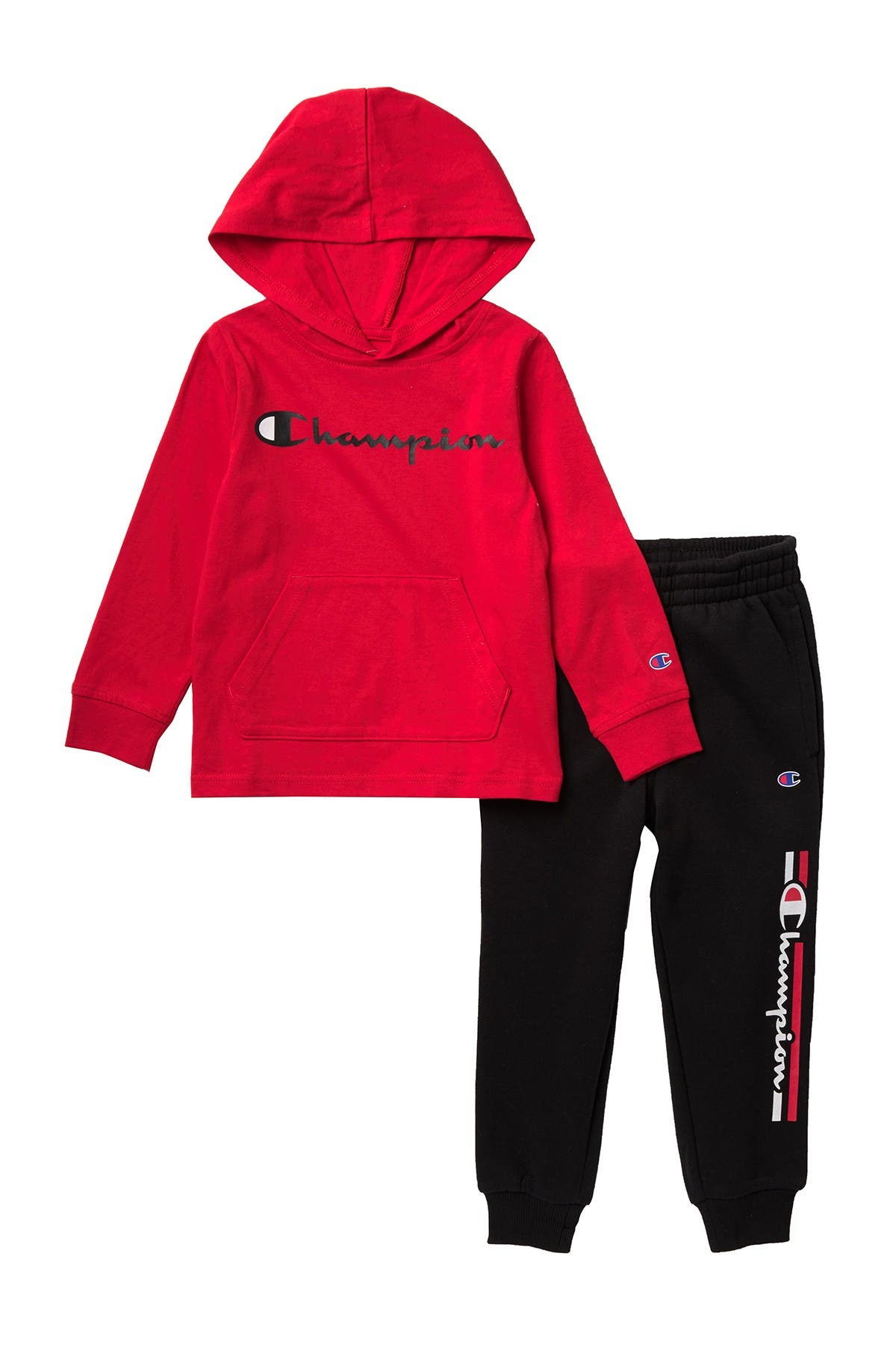 Image of Champion Script Jersey Hoodie & Sweatpants Set
