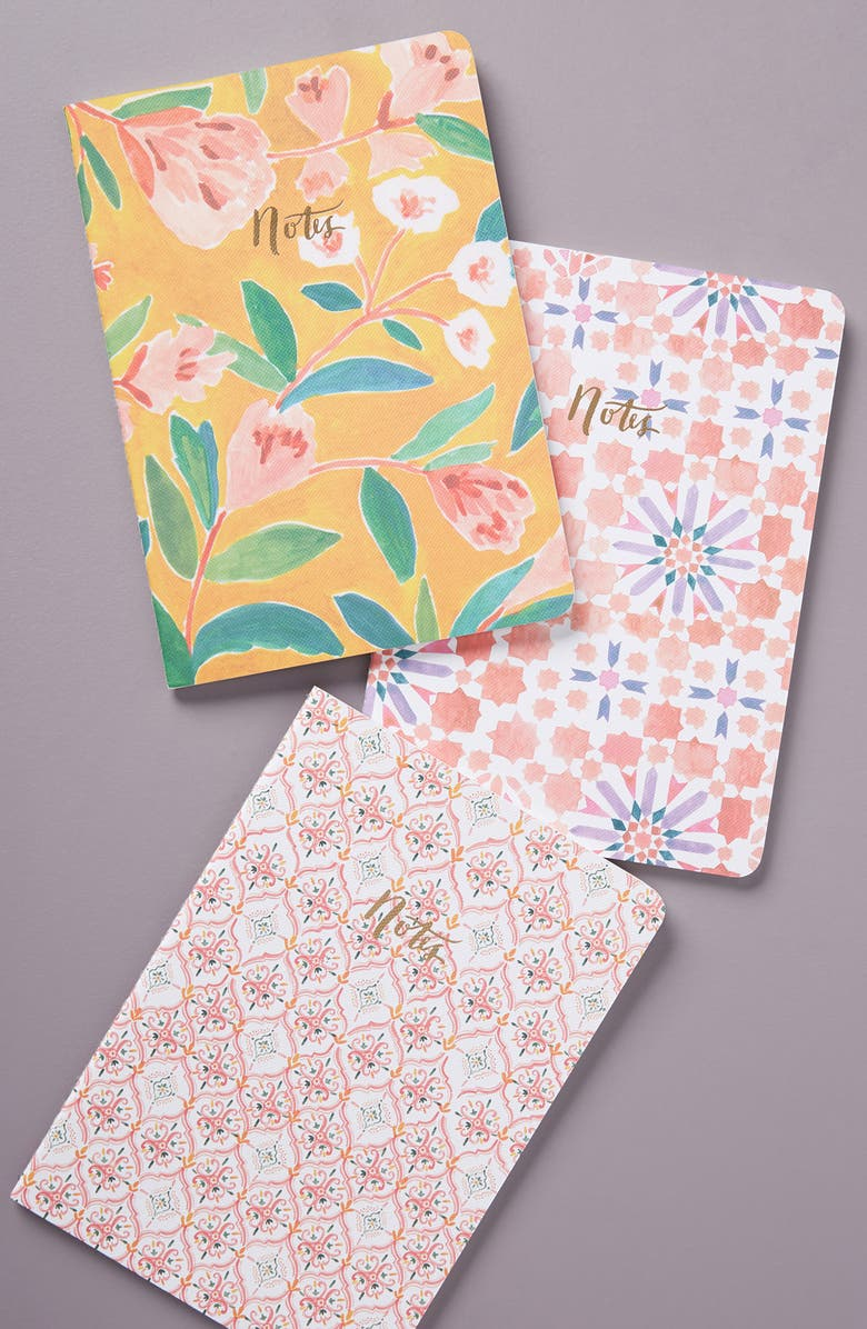 ANTHROPOLOGIE Rosie Set of Three Journals, Main, color, ASSORTED
