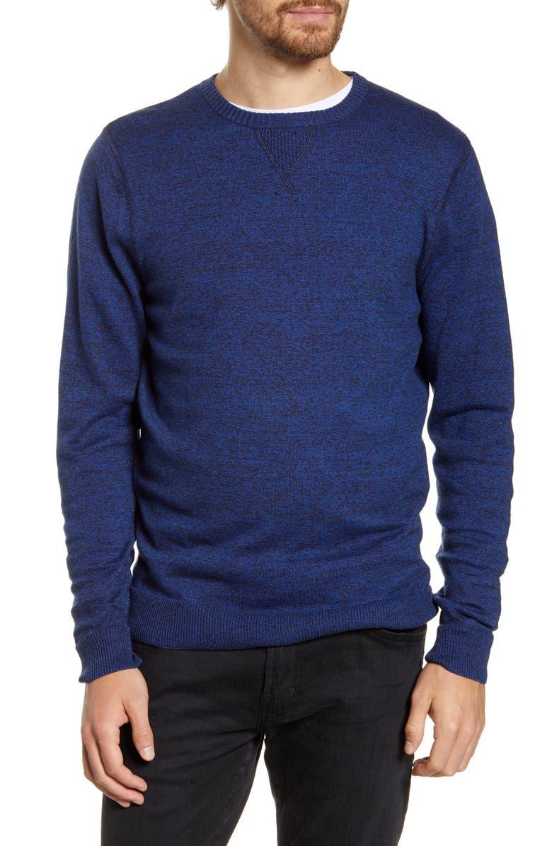 1901 Solid Crewneck Sweater, Main, color, NAVY MEDIEVAL MARL