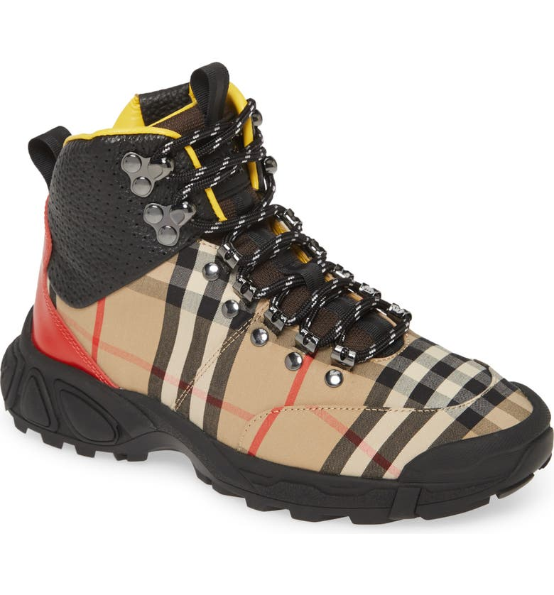 BURBERRY Tor Hiking Boot, Main, color, ARCHIVE BEIGE