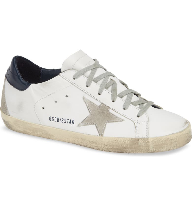 GOLDEN GOOSE Superstar Low Top Sneaker, Main, color, WHITE/ BLUE
