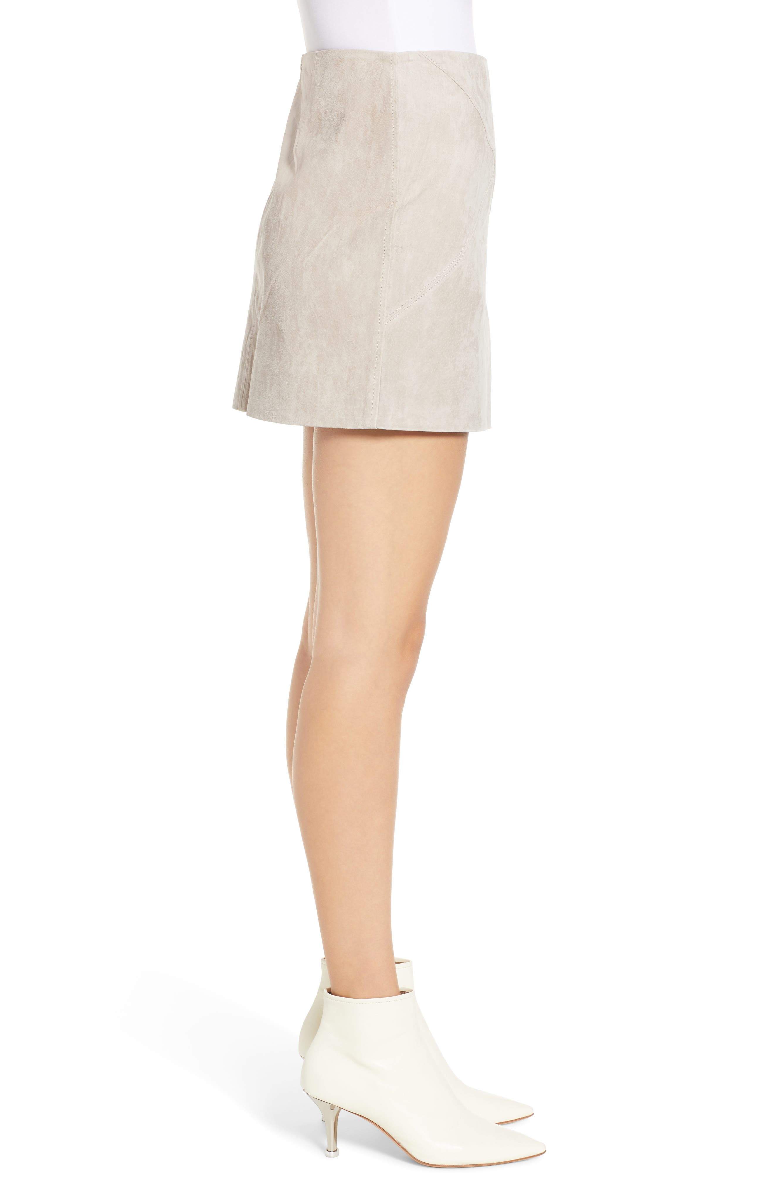 ,                             Lace-Up Suede Miniskirt,                             Alternate thumbnail 9, color,                             251