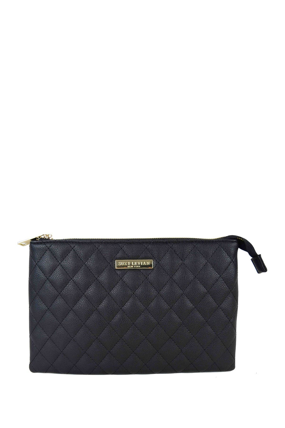 Image of Suzy Levian Medium Faux Leather Quilted Clutch