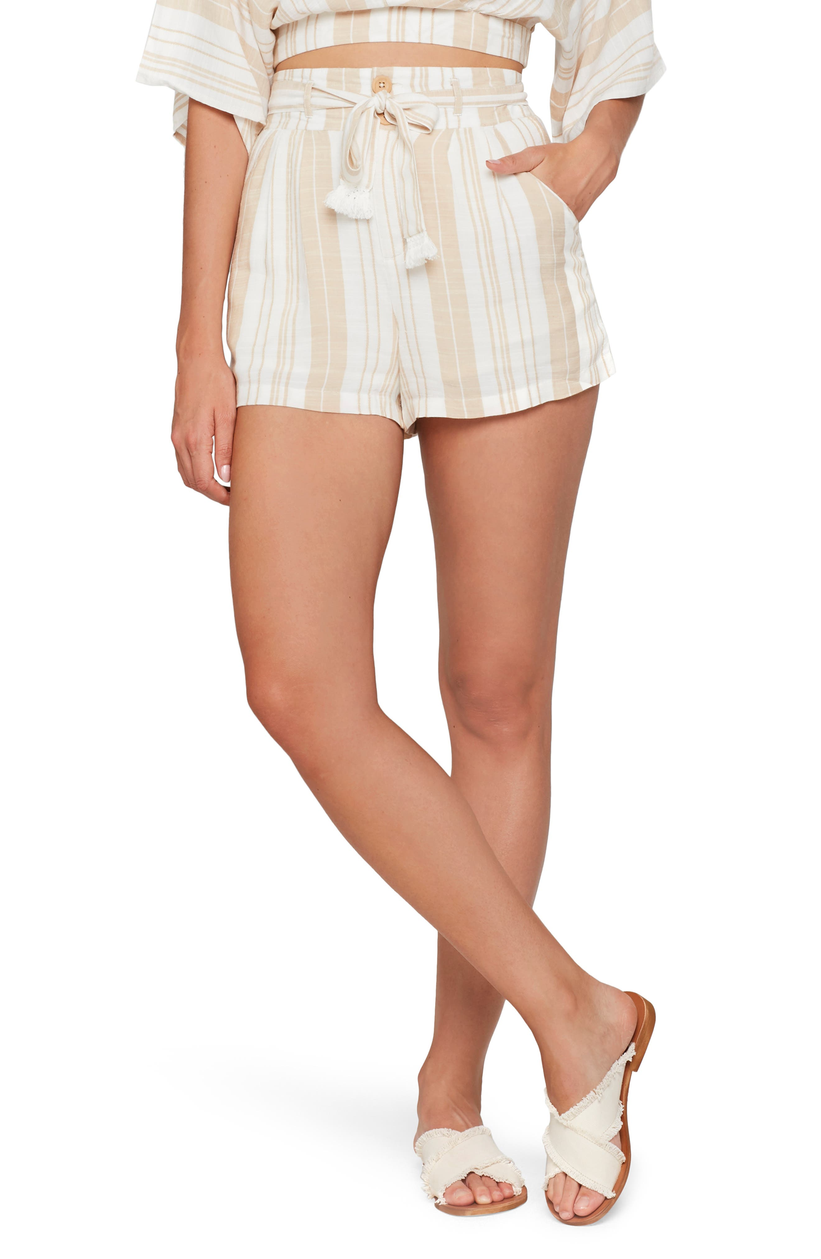 L Space Cover-Up Shorts, Ivory