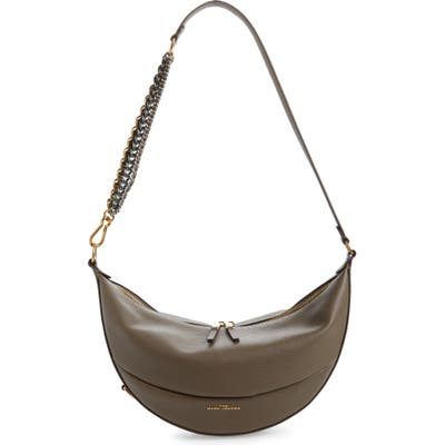 The Marc Jacobs The Eclipse Leather Shoulder Bag - Grey