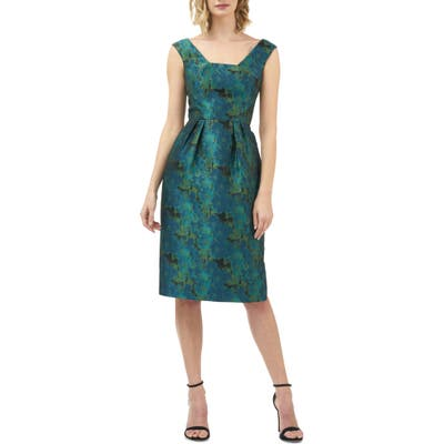 Kay Unger Julia Fit & Flare Dress, Blue