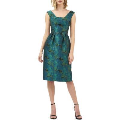 Kay Unger Julia Fit & Flare Dress, Blue