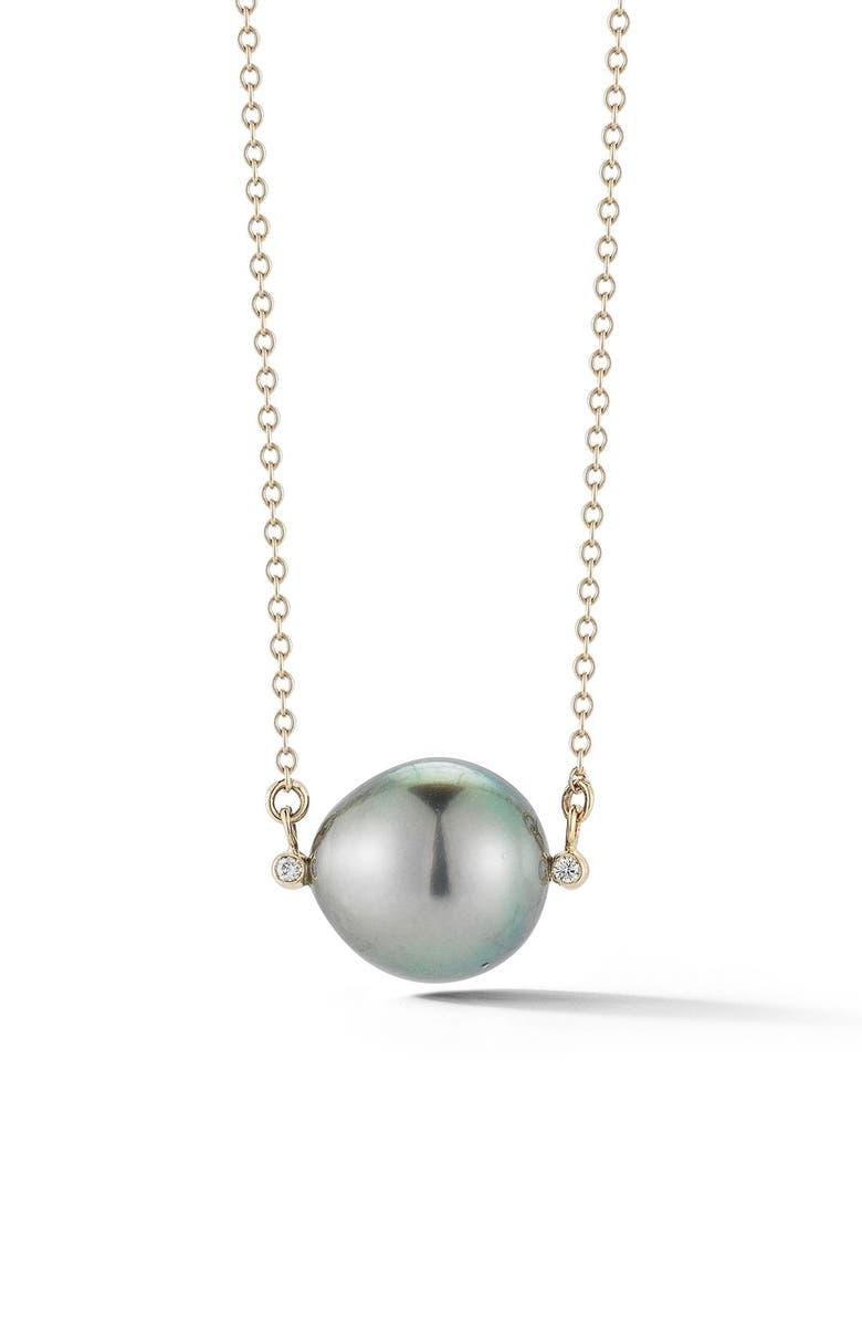 MIZUKI Pearl Pendant Necklace, Main, color, BLACK TAHITIAN PEARL