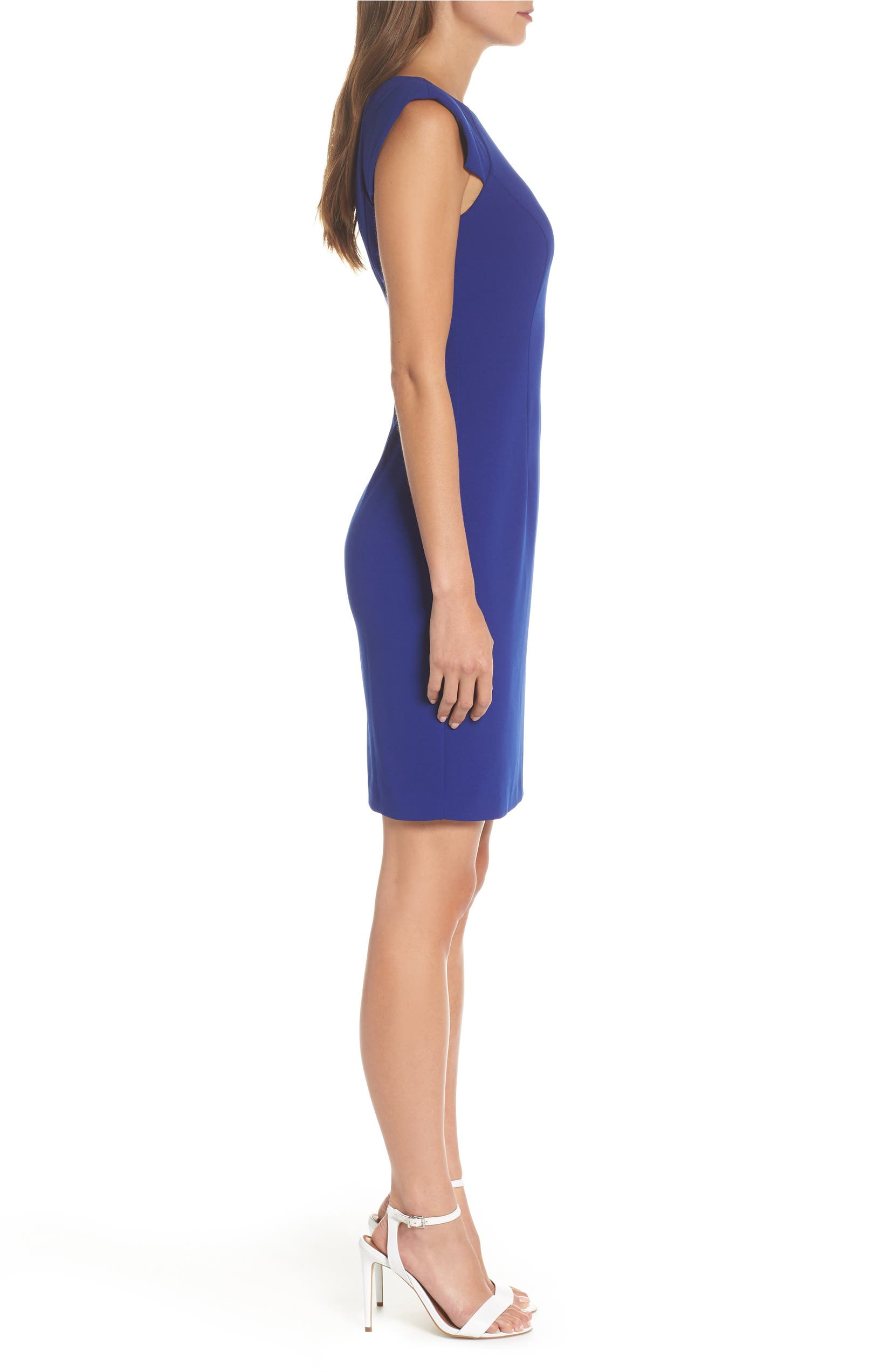 c5c7262c Eliza J Extended Shoulder Sheath Dress | Nordstrom