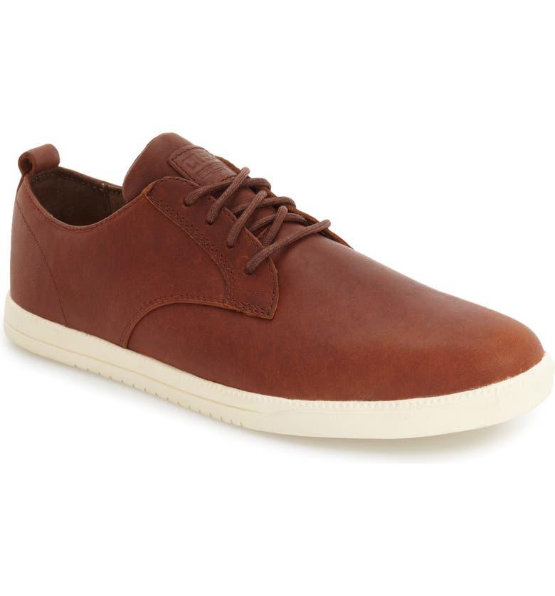 CLAE Ellington Sneaker, Main, color, CHESTNUT OILED LEATHER