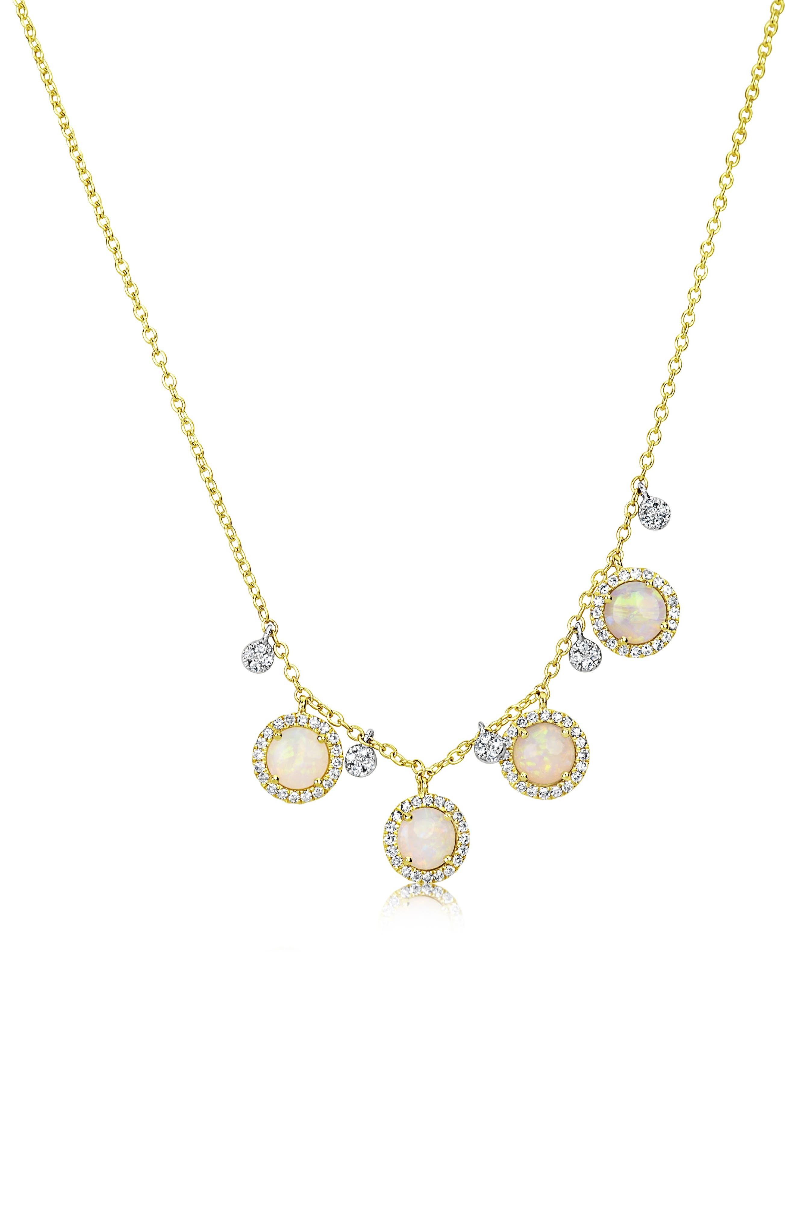 Opal & Diamond Frontal Necklace